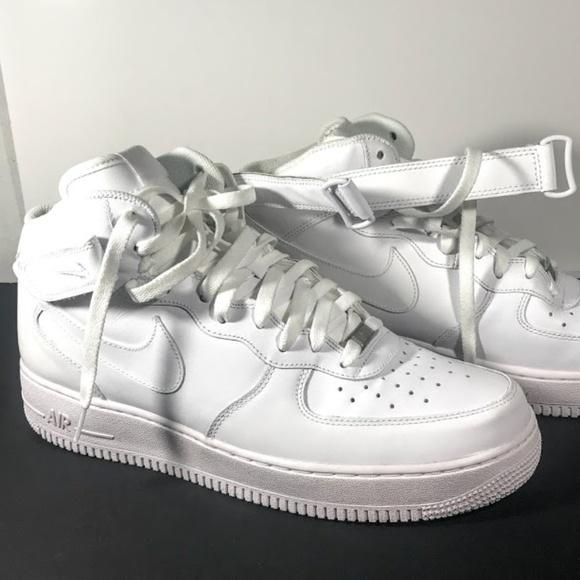 Nike Air Force 1  07 Low MidHigh White White Sz 12 877b53d4e6c